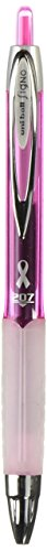 Uni-Ball 207 Pink Ribbon Retractable Gel Pen Black Ink 0.7mm (1783849)