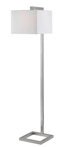 Welton 64'' Floor Lamp with Shade Included, Brushed Steel Finish - Perfect to your Living Room and for Reading by Welton