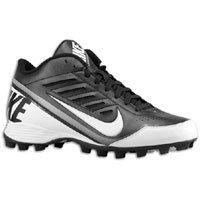 Nike Mens Land Shark 3/4 Football Cleat Black/White Size 8.5 US
