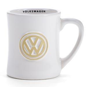 VW White Retro Diner Mug