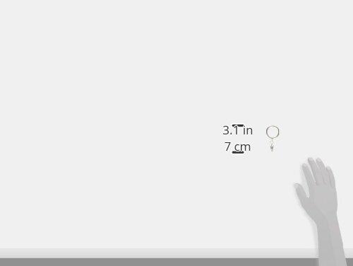 Kenney A58720012 Anillos de clip clásicos para varillas de hasta 1 pulgada de diámetro, níquel satinado, paquete de 7