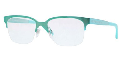 Burberry BE1253 1179 Turquoise 52mm Rx - Burberry Rimless Eyeglasses