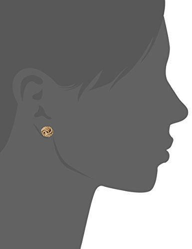 14k Yellow Gold Diamond-Cut Love Knot Italian Stud Earrings by Amazon Collection (Image #2)
