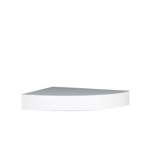InPlace Shelving 0191806 11.8-Inch Wide Floating Corner Wall Shelf, White