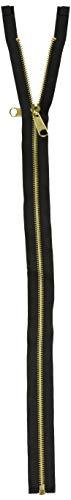 Coats: Thread & Zippers F5220-BLK Reversible Separating Metal Zipper, 20