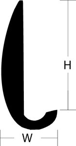 Aluminum Rub Rail (Length\': 12 Height\: 3/4 Width\