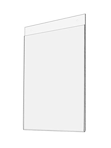 Marketing Holders Set of 10, Wall Mounted Sign Holder for 8.5x11 Posters, Clear Acrylic, Easy Updating Without Removing the Frame From the Wall