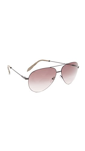 Victoria Beckham Women's Classic Victoria Feather Light Aviator Sunglasses, Black/Purple, One - Sunglasses Aviator Beckham Victoria