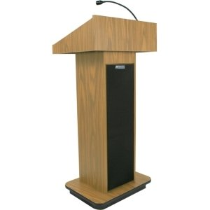(Amplivox S505-OK S505 - Executive Sound Column Lectern - Rectangle - 22 inch x 18 inch x 47 inch - Particleboard)