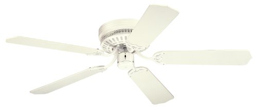 Westinghouse 7805300, Casanova White Flush Mount 52' Ceiling Fan