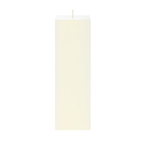 Mega Candles Unscented Ivory Square Pillar Candle | Hand Poured Premium Wax Candles 3