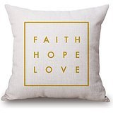 [Letter Pillow Shams ,best For Indoor,monther,wife,lover,festival,dining Room 16 X 16 Inches / 40 By 40 Cm(twin] (Toga Costumes Patterns)