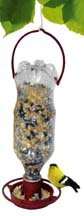 Gadjit Soda Bottle Hanging Bird Feeder (Terra Cotta) - Includes Feeding Tray Hanger, Attaches to Plastic Soda Bottles Filled Bird Seed, Hang Outdoors, Feed Wild Birds Promotes Bottle Re-use