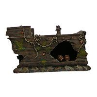 Aquatic Creations Sunken Galleon- Middle Shipwreck Aquarium Ornament, Medium