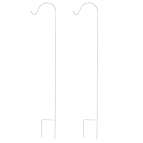 UPC 646437387200, GrayBunny GB-6816 Shepherd Hook, 48 Inch, White, 2-Pack, 2/5 Inch Thick, Super Strong, Rust Resistant Premium Metal Hook, For Use at Weddings, Hanging Plant Baskets, Lanterns, Bird Feeders & More