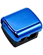 براية قلم مكياج ميتاليك - ازرق