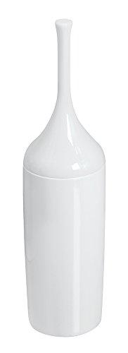 mDesign Plastic Toilet Bowl Brush and Holder for Bathroom St