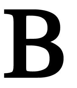 12 Inch Letter B Medium