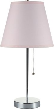 SH Lighting Polished Chrome Elegant Table Lamp - Features Convenient Pull Switch & Cone Style Shade - 20