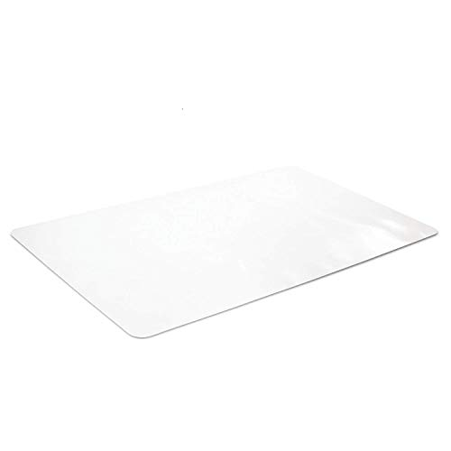 New Version Crystal Clear Desk Protector 24 x 48 Inches, Odorless Desk Pad, PVC Soft Writing Mat, Round Corners, Shipped Flat (Desk Protector Glass)