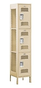 Extra Wide Vented Locker-Triple Tier-1 Wide-6 Feet High-15 Inches...