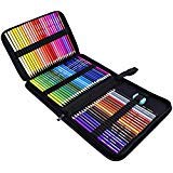 (Rock Ninja Colored Pencils Set of 72, Including Coloring Pencils, Travel Case, Pencil Sharpener, A Perfect Gift to Kids, Students, Artist and Painter, Oil Based Color Pencils for Holiday)