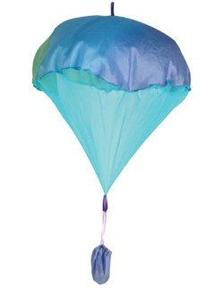 Sarah's Silks Silk Parachute Toy - Multi-Blue