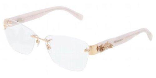 2f77a3d5d307 Dolce   Gabbana Women s 1241 Gold   Powder Frame Rimless Eyeglasses ...