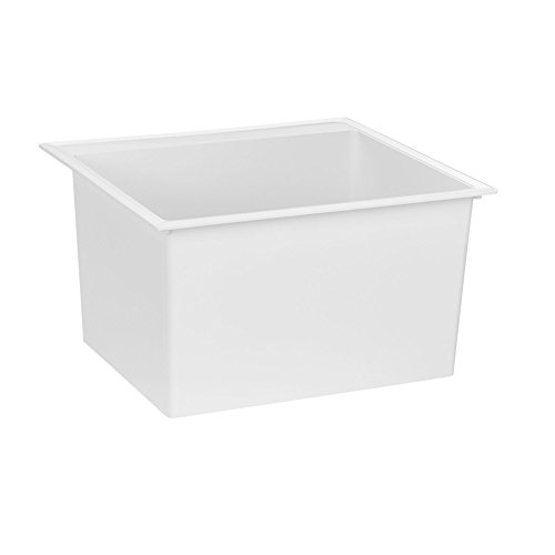 Crane Plumbing DL1 Drop-In Laundry Tub, White