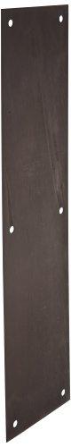 Rockwood 70C.10B Bronze Standard Push Plate, Four Beveled Edges, 16