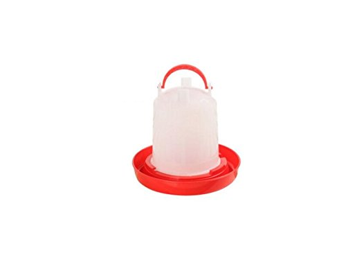 Yunqir Suitable Chick Drinker Drinking Fountain Economy Feeder-Red and White by Yunqir