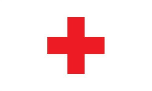 Red Cross Flag Polyester 3 ft. x 5 ft.