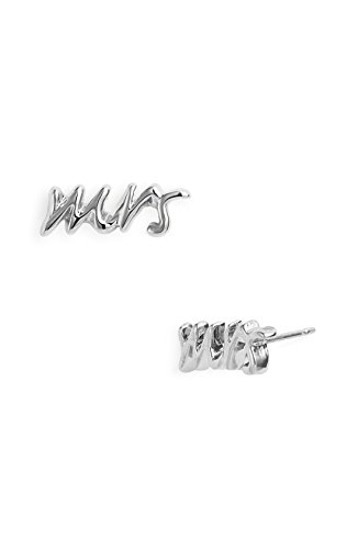 Mrs. Women Plated Mother's Day Stud Earrings Fashion Jewelry (Mrs. Silver Plated) by Rima -