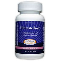 Enzymatic Therapy Ultimate Iron 90 softgels (pack of (Iron Supplement Therapy)