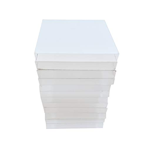 Clear Choice, 12 Pack Unpeel Acrylic Laser Cut Bases | Multipurpose, Display Small Pottery, Mineral Specimens, Mini Figuring's and More | Clear (2.00 X 2.00 X .187) (12 Cut Base)