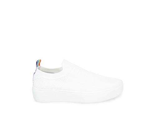 Steve Madden Women's Beale White Athletic 6.5 US