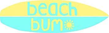 - MR3Graphics Magnet Beach Bum (Blue/Yellow) Magnetic Car Sticker Decal Bumper Magnet Vinyl 5