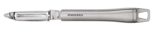 Paderno World Cuisine 8-1/4-Inch Swivel Action Potato Peeler, Stainless Steel Blade and Handle ()