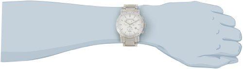 Stuhrling Original Men's 315G.33112 Symphony Regent Swiss Chronograph Genuine Diamond Silver Dial Watch