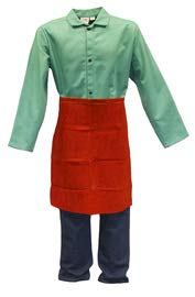 Stanco Safety Products Size 24'' X 24'' Russet Leather Waist Apron (9 Pack)