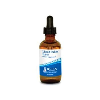 Biotics Research Liquid Iodine Forte™ Supports Healthy Thyroid Function, maintains Healthy Iodine Levels, Provides metabolic Support, Potent antioxidant.