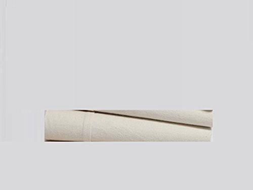 Organics and More Naturesoft Organic Cotton 5 oz. Single Flannel Flat Sheet - Twin
