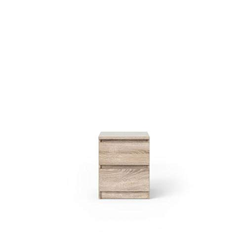 Tvilum Scottsdale 2 Drawer Nightstand, Truffle + Free Cleaning Cloth (Stores Scottsdale Contemporary Furniture)
