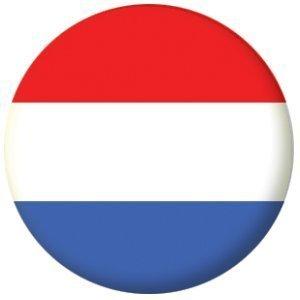 MadAboutFlags Button/Badge Drapeau Hollande Pays-Bas