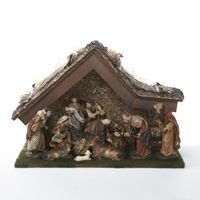 Kurt Adler 12-Inch Nativity Set with Stable and 10 Figures (Nativity Small Stable)