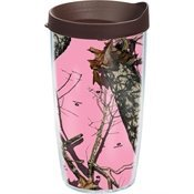 Tervis Tumbler Mossy Oak Break Up Pink Wrap 16oz with Travel Lid by Tervis