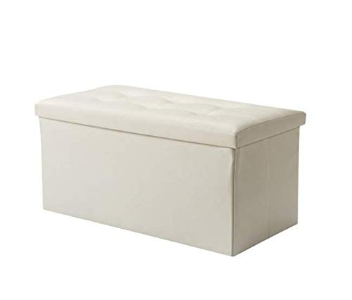 Pieghevole Carico Massimo di 200 kg Scatola portaoggetti(Bianco) Soontrans 76 x 38 x 38cm Classics Panca ottomana Ripiegabile Pieghevole
