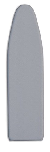 "de Machinor Premium Padded Ironing Board Cover 12"" x 42"", Metallic Silicone Coated, heat-reflective, scorch & stain resistant - 3 Layer Padding & velcro straps - Color Modern Gray by de Machinor"