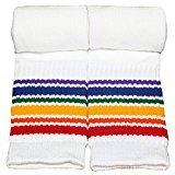 35 inch tube socks - Pride Socks - Rainbow Striped Athletic Tube Socks - 19