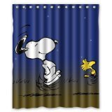 Peanuts Comics Snoopy and Woodstock Custom Shower Curtain 60' x 72'